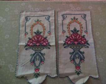 Cross stitched doilies