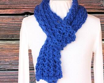 Chunky Knit Scarf Pattern, Lace Scarf Pattern, Learn to Knit Lace, Cotton Yarn Scarf Pattern, Quick to Knit Patterns, Knitting Pattern