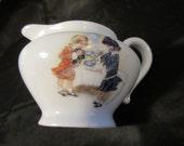 Vintage BtS Austria China Creamer Pitcher, Pitcher Vase, Childs Play Creamer, BTS China Pitcher, Creamer Featuring Children, Playful China