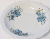 Vintage Inarco Salad Bowl E4542, Blue Poppy Bowl by Inarco, Vintage Bowl E4542, Salad Serving Bowl, Dinning Bowl with Blue Flowers