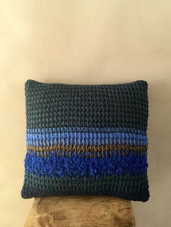 Knit Throw Pillow Cover Pattern : Hand Knit Throw Pillow Cover striped pillow case stripe throw