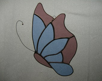 Large stained glass butterfly