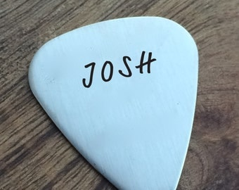 Personalize Guitar Pick For Him Personalized Custom Guitar Pick  Metal Guitar Pick Engraved For Him Boyfriend Gift Guy Gift Husband Gift