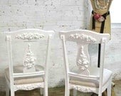 Painted Cottage Chic Shabby French Dining / Desk Chair