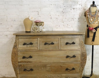 Painted Cottage Chic Shabby Romantic French Bombay Dresser
