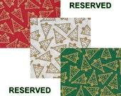 RESERVED LISTING - Christmas Fabric Destash! Please read the description for details.