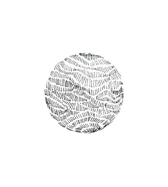 minimalist ink print: Planet III