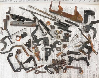 50 salvaged vintage typewriter parts for your assemblage Steampunk project DIY Repurpose Vintage Supply