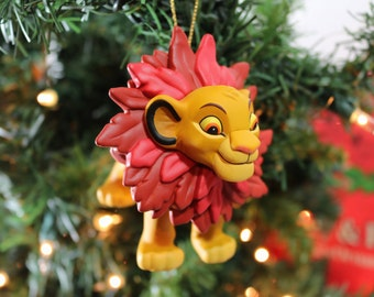 1995 First Issue Simba Grolier Disney Christmas Ornament With Box