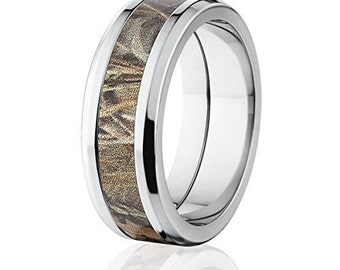 camo wedding rings etsy - Camo Wedding Rings For Him
