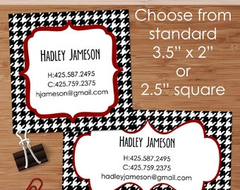 Houndstooth Plaid - 50 CUSTOM Business or Calling Cards