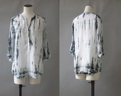 Tie and dye white blouse | 1990's by cubevintage | medium