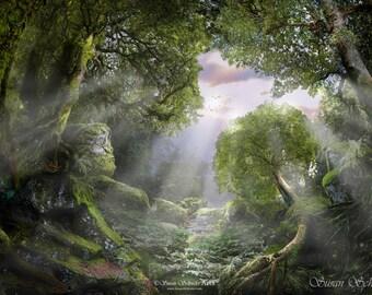 Erawa Entrance by Susan Schroder - Mythic Fantasy Art Print