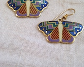 Laurel Burch Butterfly Papillon Earrings