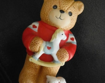 Little Bear w Rocking Horse-Vintage--Ex Cond--SALE--15% off  40 dollar and under vintage listings