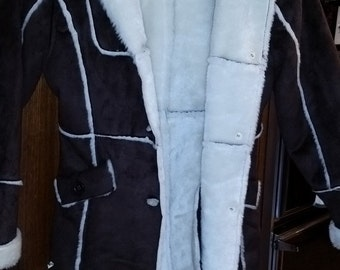 Gorgeous Suede n Fur jacket--nice -- sz Med--- 20-50% off Clothing SALE