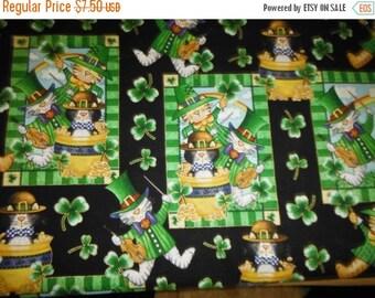 Luck o The Irish Fabrics--St Patrick's Scenes w Four Leaf Clovers--Fun fabrics