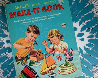 Vintage McCall's Giant Golden Make-It Book for Children - 1961 Printing