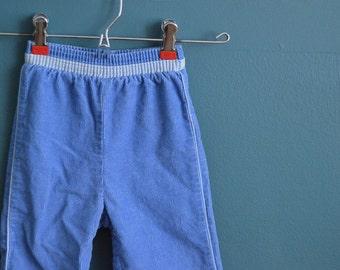 Vintage 1980s Pale Blue Corduroy Pants - Size 18 Months