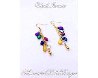 Somewhere Over the Rainbow Earrings (Edwardian Edition)/Handmade by Me/Gifts for Her