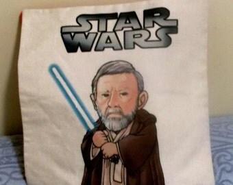 "STAR WARS Pillow Cover - 17"" X 17"" - heavy cotton duck cloth fabric, zipper closure"