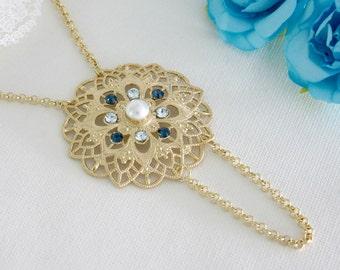 Blue pendant necklace, Blue pendant, Blue necklace, Pendant necklace, Long blue necklace, Long necklace, Necklace blue, Necklace long