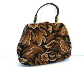 Vintage Retro Floral Handbag by VIVA!
