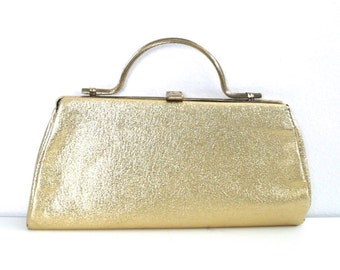 Vintage Small Gold Clutch