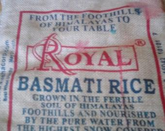 rough burlap rice bag with zipper