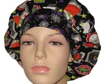 Scrub Hats - Halloween Frightful and Delightful Squares
