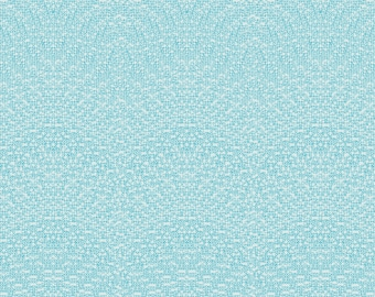 Letter Type, Modern Quilt Fabric, Paper Obsessed , 1 Yard, Time to Write, 41688-11, Windham Fab., by Heather Givans, Turquoise on White