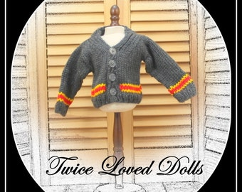 Harry Potter Style Sweater for BOY doll (or girl!) 18 inch dolls - American Girl, Magic Attic, Our Generation, etc