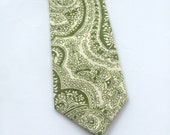 Little Guy Holiday NECKTIE Tie - Olive Paisley - (2T-4T) - Boy Toddler - (Ready to Ship) St Patrick's Day