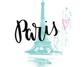 Shabby Chic Wall Decor, Shabby Chic Printable, Paris Print, Eiffel Tower Print, French Printable, Shabby Chic Wall Art, Printable INSTANT