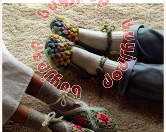 Japanese Crochet Craft Pattern Book 26 Cute Crochet Room Shoes * NEW Arrival