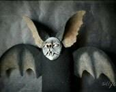 Batty bat - bat, nosferatu, puppet, poppet, odd, dark, vampyr, creepy, vampire, bloodsucker, vampyr, macabre, black, fluffy, horror