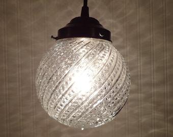 Vintage Clear Textured PENDANT Created NEW Kitchen Bathroom Light