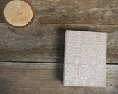 small hand-bound journal: Japanese book cloth silver/red by kata golda