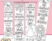 4TH of JULY SALE A Godly Woman, Proverbs 31, Color Your Own, Bible Bookmarks, Bible Journaling Instant Download Scripture Digital Printable