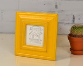 4x4 Picture Frame in Mulder Style with Vintage Buttercup Yellow Finish - IN STOCK - Same Day Shipping - 4 x 4 Square Photo Frame