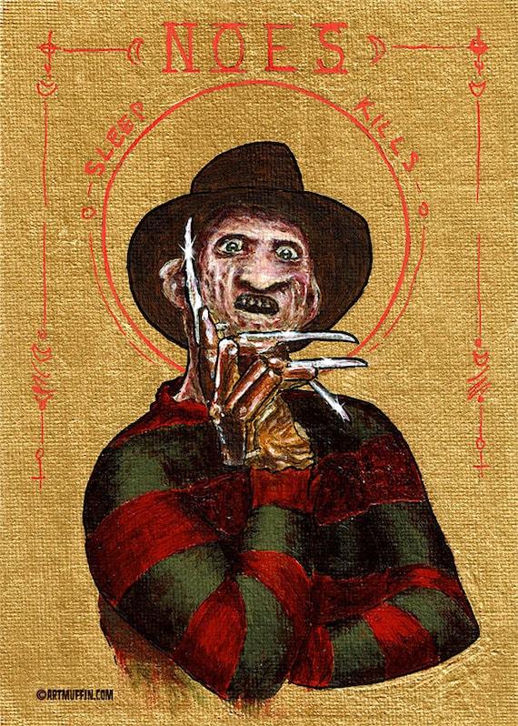 "Religious Horror Icon-Freddy Krueger-Nightmare on Elm Street-5""x7"" Print"