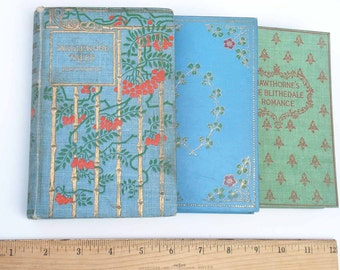 Antique Letterpress Book - Tanglewood Tales by Nathaniel Hawthorne