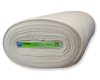 Sold by the 1/2 yard Pellon #2107 Natural One - Quilt Batting