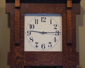 Arts & Crafts, Mission wall clock