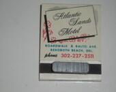 Vintage Atlantic Sands Motel Rehoboth Delaware Full Unused Matchbook Custom Made Refrigerator Magnet
