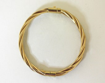 14K Gold Bangle Bracelet Hinged PETITE