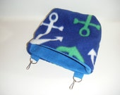 Sugar Glider Pouch, Cage Pouch, Cage Accessory, Anchor Fleece, Blue Fleece, Black Fleece, Fleece Tabs, Hamster Pouch, CooperStudios