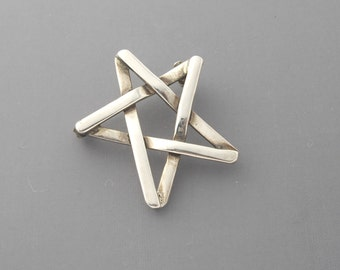 Silver Star Brooch, Sterling Star Brooch, Star Pin, Mexican Silver Brooch, Star Brooch, Sterling Silver Brooch