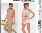 McCalls Misses Long or Short Jumpsuit Pattern   Size: 18 - 20