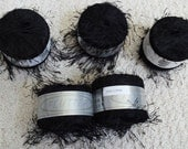 Black Knitting Fever Flutter Yarn, Long Eyelash Yarn, Four spools available